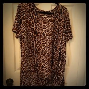 Crazy Train Leopard Knot Tunic